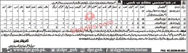 Population Welfare Department Balochistan Jobs 2021