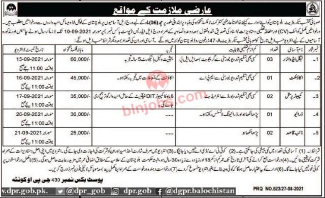 Balochistan Provincial Ombudsman Secretariat Jobs 2021