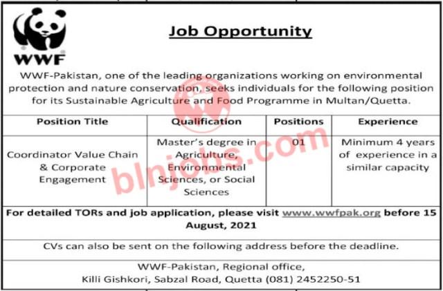 WWF Pakistan Jobs 2021 in Quetta