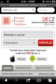 Nova interfície del diccionari de l'IEC Online