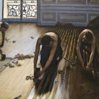 Los cepilladores del parquet (Gustave Caillebotte, 1875)