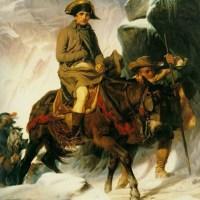 Bonaparte cruzando los Alpes (Delaroche, 1850)
