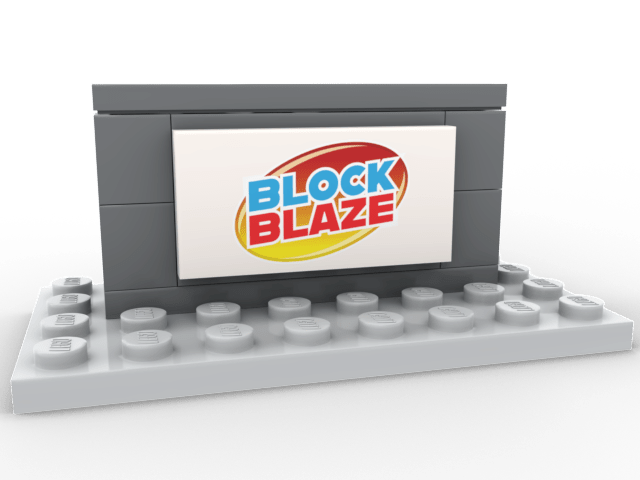 2x4 White tile with BlockBlaze Logo