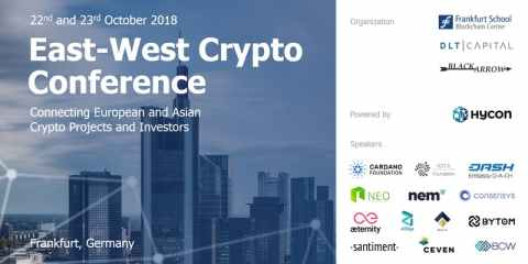 We are partner of the East-West Crypto-Conference at the German Blockchain Week, 21.-25.10.2018
