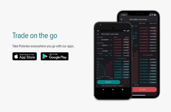 ios and android app poloniex