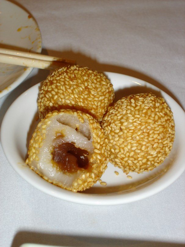 """Amy said """"There could be an eyeball in there for all you know"""" right before I bit into this. Terrific Dim Sum place in San Francisco. Hit China Town, then ask one of the shop owners where they go. We ended up in a restaurant a few blocks up that was filled with Chinese businessmen."""