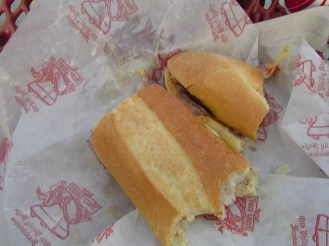 Tried a few different cheesesteaks at Citizens Bank Ballpark. Looking forward to my next trip out so I can hit the city and have a few more.