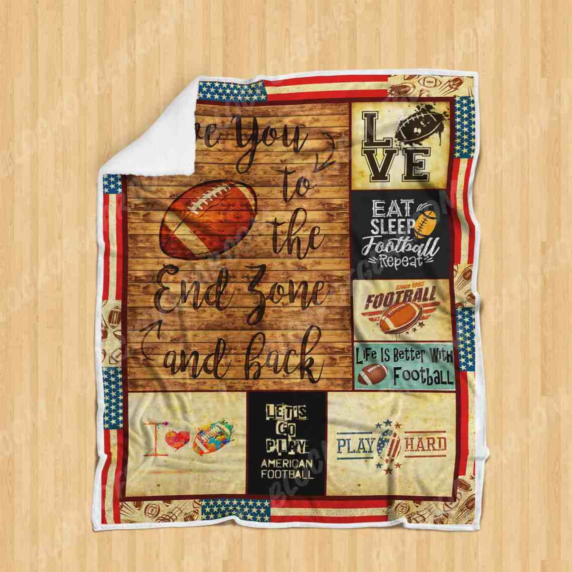 Download I Love You To The End Zone And Back Sofa Blanket SS166 ...