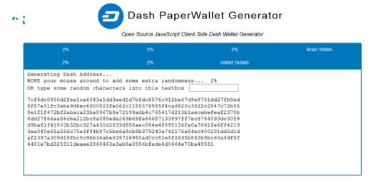 Dash Paper Wallet