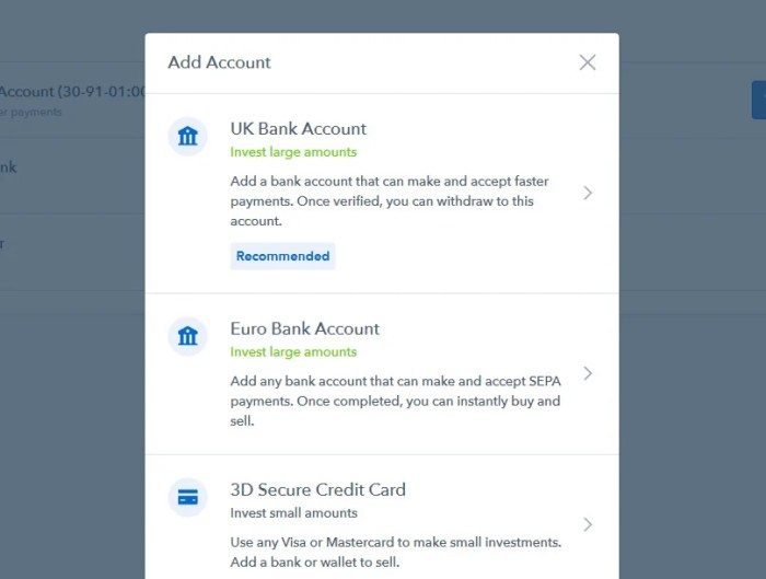 Coinbase UK Bank Account