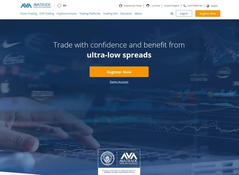 Sitio web de AVATrade