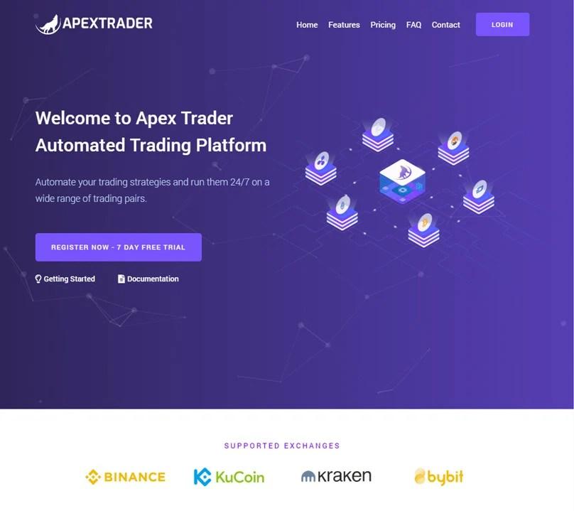 Apex Comerciante Página De Inicio