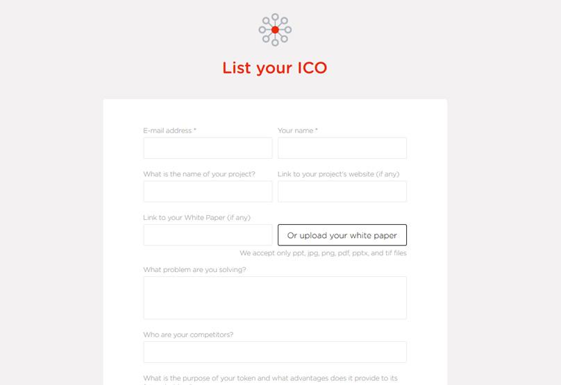 List Your ICO