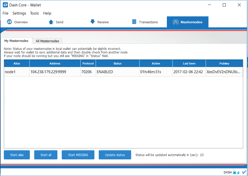 Dash Coin Wallet Desktop How To Setup Masternodes