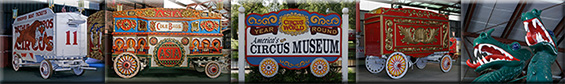 Antique Circus Wagons at Circus World Museum