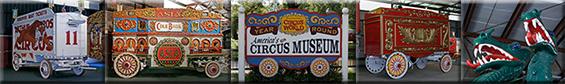 Antique Circus Wagons at Circus World Museum