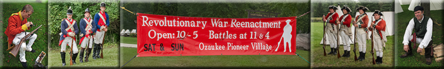 2014 Revolutionary War Reenactment – Ozaukee County Pioneer Village