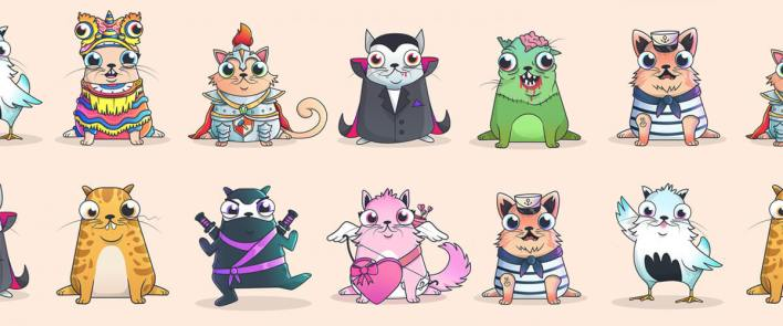 CryptoKitties allows players to attempt to breed unique, one-of-a-kind digital cats