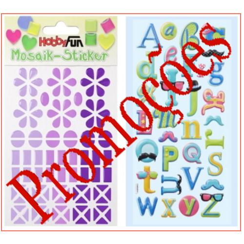 Promoções Stickers e Aplicações