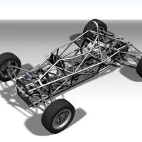 Blocos FP: Conjunto Chassi Gaiola Formula 3D