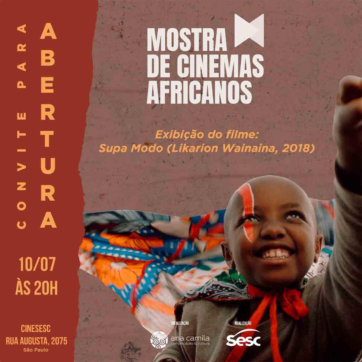 Evento promove janela de exibição da cinematografia africana contemporânea no Brasil, com diversos títulos inéditos no país. Em sua quarta edição, chega ao CineSesc em julho de 2019.