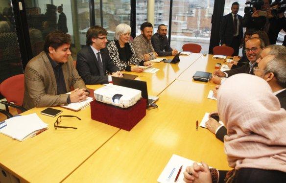 Badalona. Visita del president de la Generalitat a la ciutat. Carles puigdemont.   1230#Oriol Duran