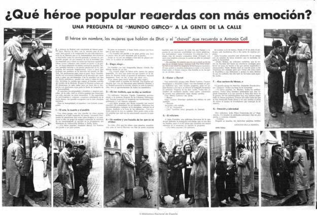 """Reportatge de MUNDO GRAFICO: """"Un nombre y una azaña de las que no se olvidan"""""""