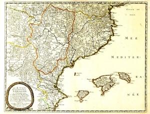Mapa dels estats de la Corona d'Aragó (1653)
