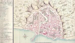 Plànol de Palma de 1715, alçat després de la caiguda