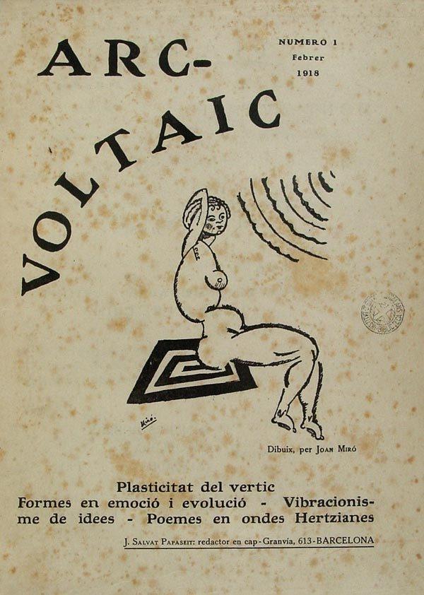 Caràtula de la revista amb dibuix de Miró