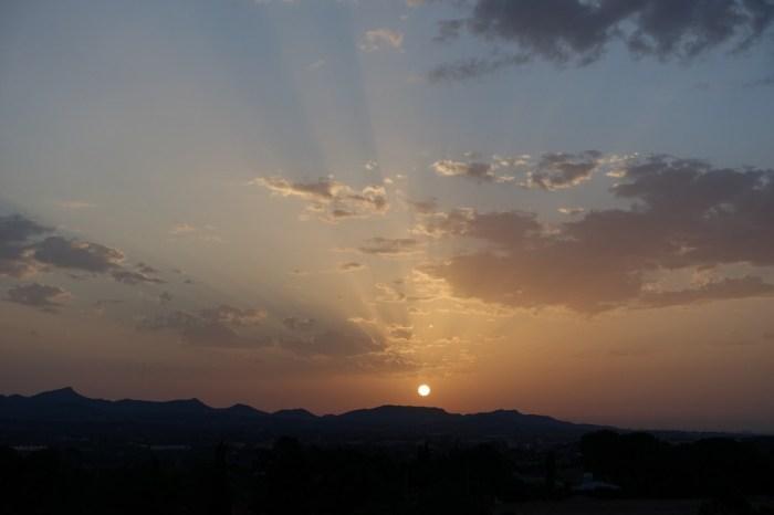 Alba del dia 7 a la serra Calderona, el mes càlid del mes. (07/07/2015, 05:54 h.)