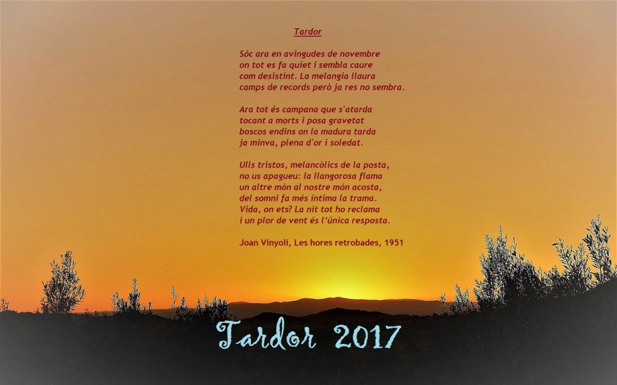 """""""A la Tardor, ni fred ni calor"""". Un colp d'ull a l'oratge de la Tardor climàtica del 2017 des del Camp de Túria."""