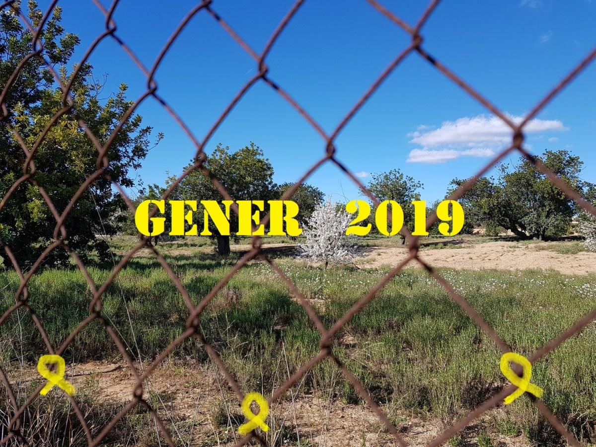 """""""Lluna de gener, com l'amor primer"""". Meteorologia de gener, 2019, des del Camp de Túria."""