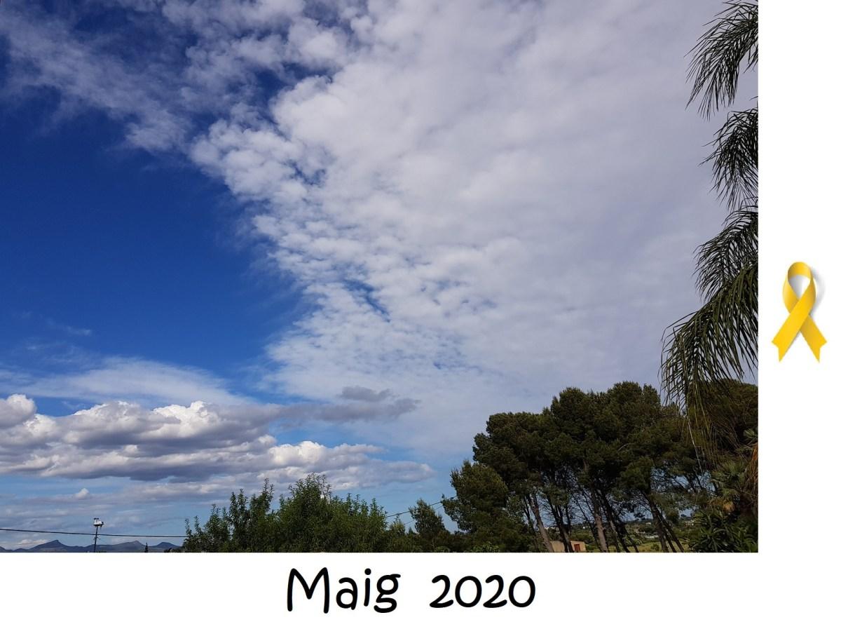 """""""En maig, cada gota un raig"""". D'onades de calor i meteorologia de maig, 2020, des del Camp de Túria."""