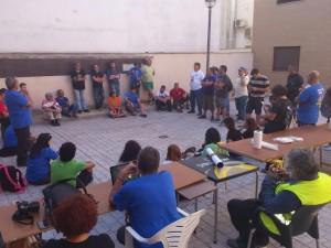 Asamblea  en el Corral de la Solidaridad de Almendralejo 2