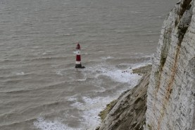 Beachy head unmanned lighthouse has recently had a new coat of paint.