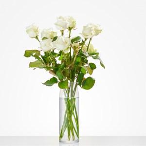 Losse witte rozen