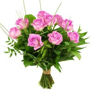 10 Roze rozen bestellen of bezorgen