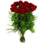 15 lange rode rozen bestellen of bezorgen