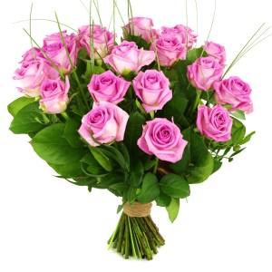 20 Roze rozen bestellen of bezorgen