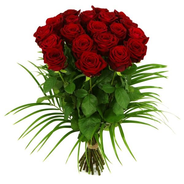 20 lange rode rozen bestellen of bezorgen