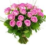 25 Roze rozen bestellen of bezorgen