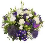 Biedermeier blauw paars wit versturen bestellen of bezorgen