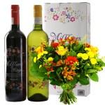 Bloemen en wijngeschenk Milflores Rioja wijn bestellen of bezorgen