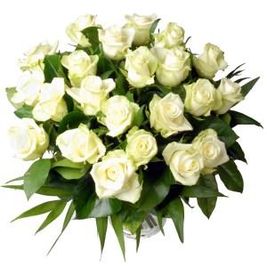 Boeket buitenland witte rozen bestellen of bezorgen online