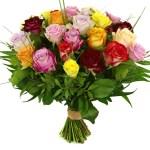 Boeket mixed rozen versturen bezorgen bestellen of bezorgen