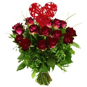 Boeket rode rozen bestellen of bezorgen
