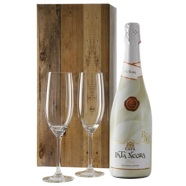 Cava pata negra brut en champagne glazen bestellen of bezorgen