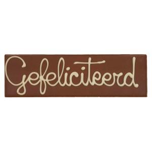 Chocoladereep Gefeliciteerd bestellen of bezorgen