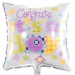 Felicitatie geboorte jongen ballon versturen bestellen of bezorgen